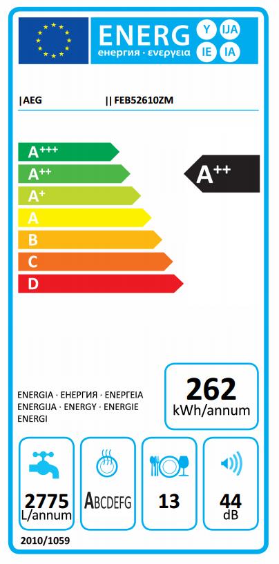 AEG afwasmachine FEB52610ZM-96
